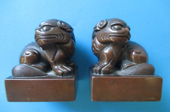 Sold ú95,000 In Nov 2014 Pair Chinese Bronze Seals