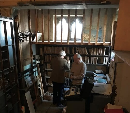 Clearing The Old Chapel And Books At Fh