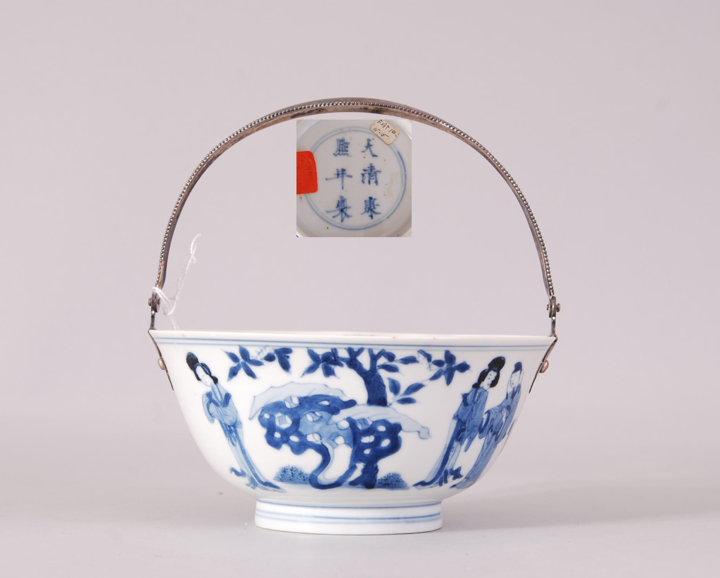Kangxi Blue And White Figural Bowl